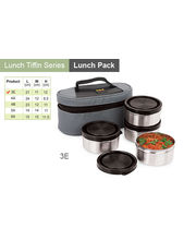 Sizzle Best Lunch Box Set of 4 Air Tight Containers 3E, multicolor