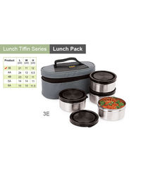 Sizzle Lunch Box Set of 4 Air Tight Containers, multicolor