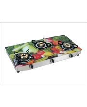 Surya Flame Glaze vegetable 3 Burner Glass Top Gas...