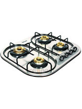 Padmini CS-400 SL- IB Four Burner Gas Stove (Silver)