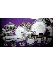 Silverline High Quality Stainless Steel 57 Pcs Dinner Set, Multicolor