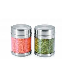 Sizzle Clear Containers 1200 ml Set of 2, multicolor