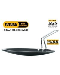 Hawkins Futura Tava Griddle with Stay Cool Handle,  black