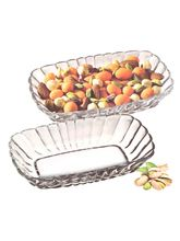Pasabahce Clear Glass Snack Bowl Set (2 Pcs), Actu...
