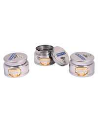 Paanjo Containers 150 ml Steel Lock Jar Set of 3, silver