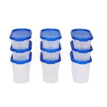Gluman 9 Pcs Set of Modular Kitchen Storage Container Box - Mod Blue C7,  blue