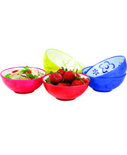 Wondercraft Servin Dual Tone Bowl Set Of 6 Pcs By Chef Sanjeev Kapoor, Multicolor