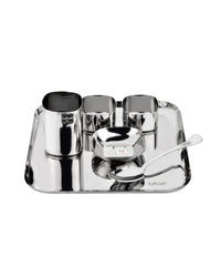 Tuff Line Stainless Steel 6 pc Square Dinner Set,  silver