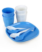 Amiraj Microwavable Lovely Picnic Set- 12 Pcs & Get A Carry Bag Free, Multicolor