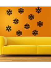 MeSleep Snowflakes Wall Sticker- Pack Of 10, Black...