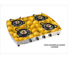 Advanta Premium (Lemon) 4 burner Gas Stove with Automatic Ignition (Multicolor)