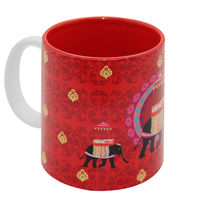 The Elephant Company Ceramic Mug Red Elephant Butti, red