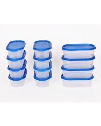 Gluman 12 Pcs Set of Small Modular Kitchen Storage Container Box - Mod Blue C3,  blue