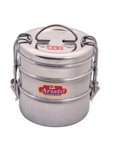 Aristo tiffin 430 ml Stainless Steel container, silver