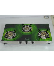 Advanta Premium Vetra Galaxy 3 Burner Glass Top Gas Stove With Automatic Ignition, Multicolor