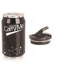 CarryMe Sippie Hot & Cold Thermo Can with Sipper & Extra Lid 330 ml,  black