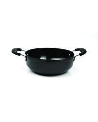 Aristo Hard Anodised Deep Kadai Dia-29 cm 3mm Aluminium 5000 ml, black