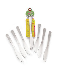 Roop's Dessert knife Stainless Steel 6 Pc Set,  silver
