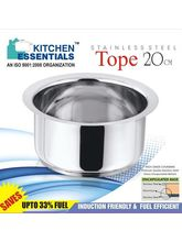 Kitchen Essentials Induction Base Tope 20cm Cooking Pot 2 Litres, Meta...