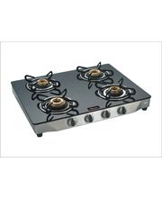 Surya Flame Glaze Sparkle 4 Burner Glass Top Gas...
