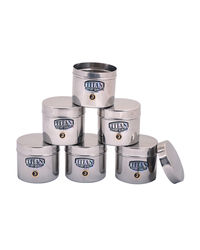TITAN Micro Container Multi Purpose Bottle Set of 6 150 ml, silver