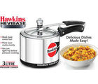 Hawkins Hevibase Induction Compatible Pressure Cooker-3L, silver