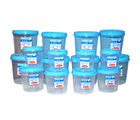 Chetan Set Of 16 Pc Twist Lock Kitchen Storage Container, blue