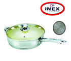 Imex Non Stick Fry Pan With Lid– USSIFP, silver