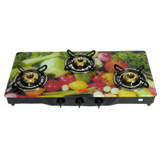 Premium Black Diamond Vegetable 3 Burner Gas Cooktop