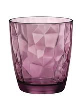 Wonderchef Bormioli Diamond DOF Glass - Rock Purple 390ml(Pack Of 2), Purple