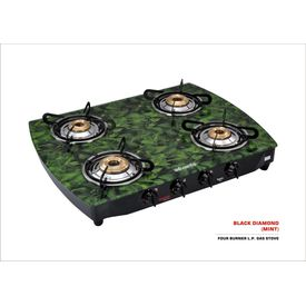 Advanta Premium Black Diamond Mint Gas Cooktop (4 Burner)