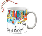 meSleep Love U Brother Mug With Beautiful Rakhi's, white