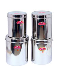 Aristo Steel Container Jumbo Storage 4 Pcs Sets 3.5 to 6.4 Litres,  silver