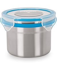 Steel Lock Airtight Storage Food Containers 350 ml 6 Pc 1202 Combo Set, multicolor