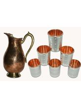 Tera India Jug With 6 Glasses Combo Set - RI_ Prod_ 0039, Multicolor