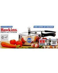 Hawkins Induction Based Stainless Steel Pressure Cooker - 3L, 3 ltr, standard-silver