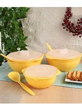 Amiraj Serving Bowls Set Of 9, Yellow