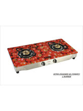 Advanta Premium (Tomato) 2 Burner Gas Stove (Multicolor)
