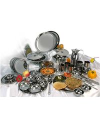 United High Quality Stainless Steel 51 Pcs Dinner Set, multicolor
