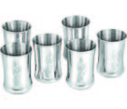 Silver Queen 6 Piece Malbro Glass Set SQG078, silver