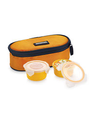 Smart Lock Sml-202 Airtight Tiffin Box With Insulated Bag Melamine 2 Pc Set,  yellow