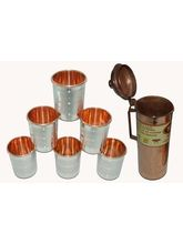 Tera India Fridge Bottle With 6 Glasses Combo Set - RI_ Prod_ 0046, Mu...