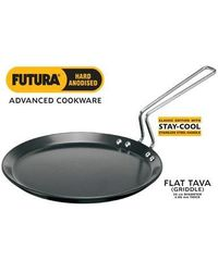 Hawkins Futura Flat Tava Griddle with Stay Cool Handle,  black