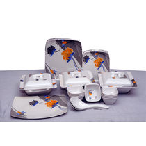 Geeta Diamond Square 44 Pcs Melamine Dinner Set LE GDS 002