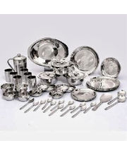 Gold High Quality Stainless Steel 51 Pcs Dinner Set, Multicolor