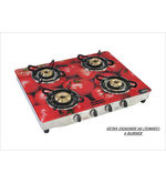 Advanta Premium (Tomato) 4 burner Gas Stove (Multicolor)