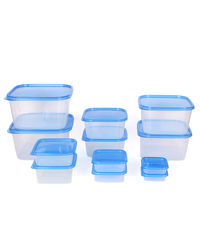Gluman 12 Pcs Set of Plastic Kitchen Storage Container Box - Splash Blue C7,  blue