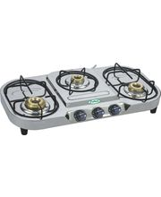 EELLEE 3 Burner Stainless Steel Gas Stove ELE-3044, Multicolor