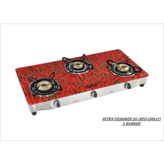 Premium Chilly 3 Burner Auto Ignition Gas Cooktop