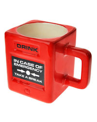 Its Our Studio Take a Break Emergency Mug,  red